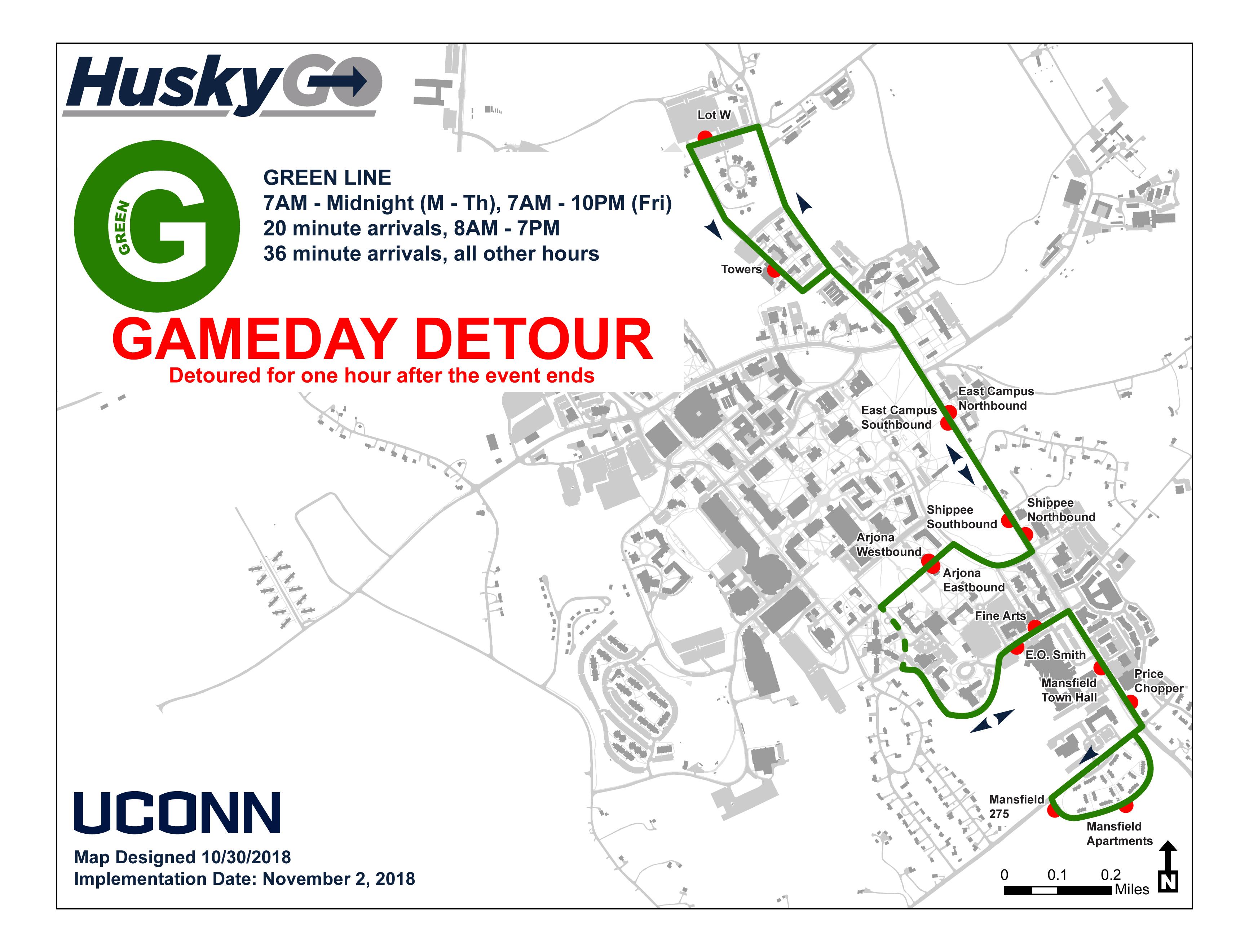 uconn depot campus map July 9 2020 Transportation Services