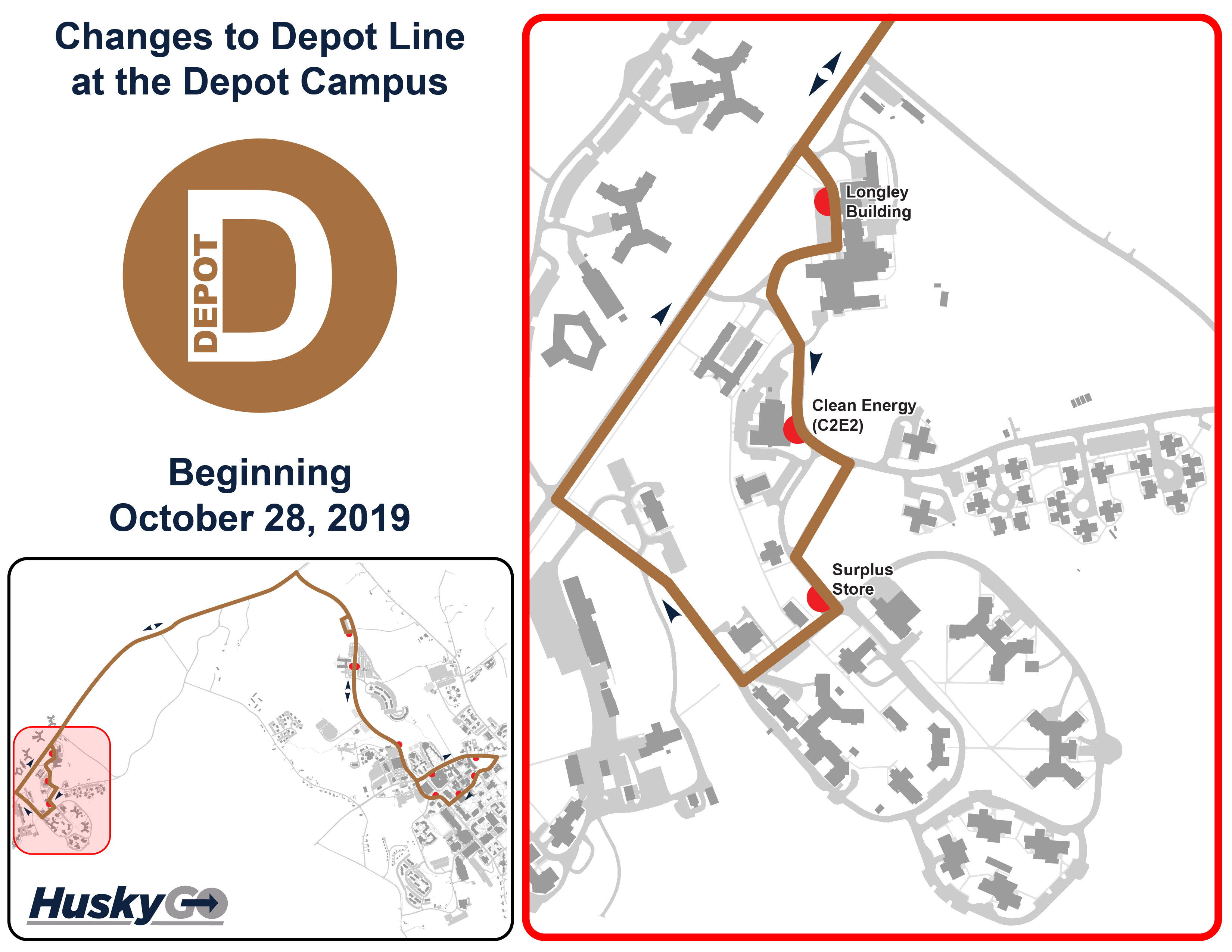 uconn depot campus map 10 28 Changes To Depot Line Transportation Services
